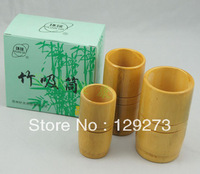 Huanqiu Traditional Bamboo Cupping Set - 3 Bamboo Jars Free Shipping