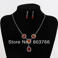 new fashion jewelry set round shape pendant necklace and drop pendant earrings party jewelry set worldwide free shipping cm-006