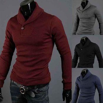 горячей 2013 черепаха новые мужские поло шеи джемпер свитер slim fit рубашки пуловеры вершины 4 цвет