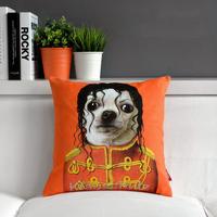"""Michael Jackson Creative Orange Sofa Plush Cushion Throw Pillows,Office Cute Cartoon Star Nap Cushion 17""""*17""""  (only cover)"""