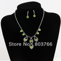 new fashion jewelry set heart shape pendant necklace and drop pendant earrings party jewelry set worldwide free shipping cm-005