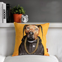 "Rock & roll Snoop Doggy Dogg Creative Sofa Plush Cushion Throw Pillows,Office Cute Cartoon Star Nap Cushion 17""*17"" (only cover)"