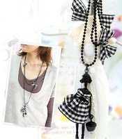 # N1105 Fashion Scotland Style Doll & Black Butterfly Necklace B wholesale