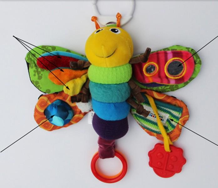 30 centímetros musicais Bebê Musical Inchworm pelúcia chocalhos brinquedos da criança brinquedo infantil crianças de pulso Hot Selling Fly abelha do mel 1pcs 12 '(China (Mainland))