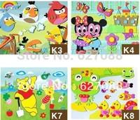 20pcs/lot 21*27cm Kid DIY handmade self-adhesive Cartoon Animal eva foam sticker 3D eva puzzles toy Educational Toy for Children