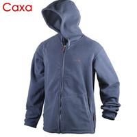 Caxa Men hooded cardigan fleece outdoor clothing thickening sweatshirt polar fleece fabric outerwear 1193