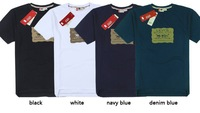 Brand Mens t Shirt  Fashion 2014  SummerCasual Men Loose 100% Cotton Short-sleeve T-shirt  Plus SizeM- 5XL,Free Shipping