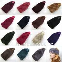 20 pieces / lot Corn Style Fashion Women Crochet Headband Solid Knitted Headwraps