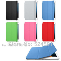2013 New luxury Folding Ultra Thin Magnetic Leather Smart Case Cover + Hard TPU Back Cover For New Apple iPad Air/ipad 5