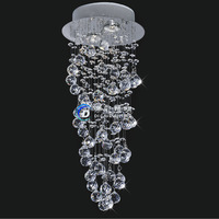 whole sale price big discount Free shipping Dia250*H600 led modern crystal chandelier corridor lights for living room