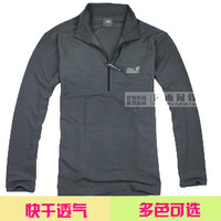 Men polartec fleece plaid quick dry quick-drying thermal long-sleeve T-shirt sweatshirt