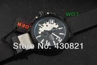 Designer WELDERING K-26 Series Functional Chronograph Men Watch, Stainless Steel Men Watch,Round shape, silver,black.