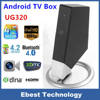 Newest Arrival UG320 Quad Core RK3188 1.6GHz 1G+8G Android4.2 Smart TV Box with Camera 5Mpx bluetooth RJ45 WIFI free shipping