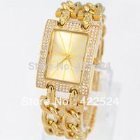 Hot sale  Women watch with full diamond  Luxury dress watches Bracelet Wristwatch  Stainless steel Jewelry  Gifts items new