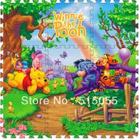 Cheap price 9 Pcs/set  Winnie Crawling Rug baby mat Cartoon Floor Mat Baby's Climb Blanket Eva Foam Puzzle Mat Game Carpet 1002