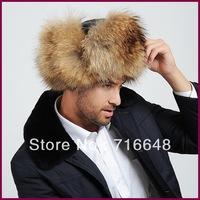 Raccoon hats leather strawhat thermal cotton cap lei feng cap Men cap male hat
