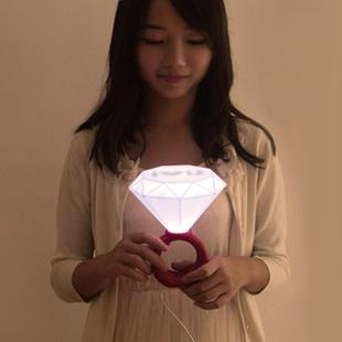 Diamond ring lamp led romantic lovers table lamp small night light table lamp bed-lighting gift(China (Mainland))