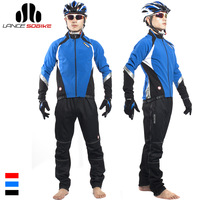 Sobike male ride service long-sleeve fleece set autumn and winter mountain bike thermal trousers