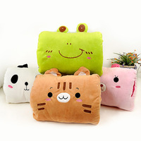 Winter square animal muff thermal plush pillow cartoon hand warmer girlfriend gifts
