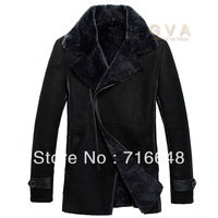 Winter fur 2013 slim one piece leather clothing thermal male genuine leather sheepskin fur coat