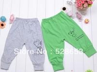 Free shipping 5pcs/lot KK01-1 baby full length  Unisex Character  Children cotton long pants harem pants children autumn