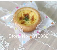 E1 Free Shipping 90pcs polka dot bakery biscuit / cookie egg tart packaging bags 11.5*9cm