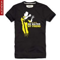Bruce Lee  figure costume yellow mens t shirt casul camisetas  camisa slim fit Vintage summer 2014 new man fitness men T-SHIRTS