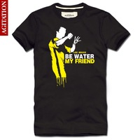 Bruce Lee  figure costume yellow mens t shirt casul camisetas  camisa slim fit Vintage summer 2014 new man fitness men T-SHIRTS