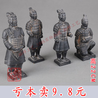 Qin terracotta warriors and horses decoration memorial crafts decoration 22cm