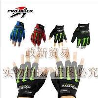 Pro-biker motorcycle gloves summer semi-finger mesh cloth drop resistance gloves racing gloves