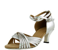 BBS-1A040 Ladies International  standard dance  Latin shoes silver Latin shoes with high-heeled adults