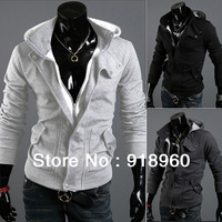 new sale high collar Men's Jacket Top Brand/M~XXXLhooded Collar Men's Coat hooded Clothes sweater/overcoat/outwear free shipping