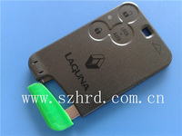 free shipping key card renault Laguna smart card cover 3 buttons with blade renualt key