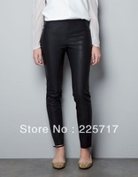 free shipping S, M, L 2013 autumn&winter women's trend fashion imported PU leather pants ladies ankle length legging WLP13014