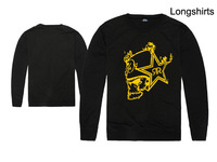 17 Styles Sweatshirt /Women Men/O-Neck Long sleeve Thin /Rockstar Metal Mulisha Skeletons Graphics
