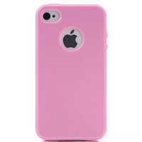 Solid Color TPU Case for iPhone 5 5S Matte Cover Skin Protector with Round Hole, 10pcs/lot, Free Shipping