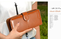 new 2013 genuine leather women clutch brand fashion large capacity slim women wallets wholesale retail women wallet