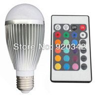 Free Shipping 9W E27 RGB LED Bulb Remote Conroller 16 Color Changing Lamp Spotlight 50000H Lifespan High Lumen RGB LED Bulb Lamp