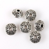 450pcs/lot Free Shipping Circles Flying Saucer Charms Silvery Round New Alloy Carve Fit DIY Making Beads 112994