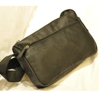 Fashion shoulder bag messenger bag PU male travel bag fashion all-match messenger bag small male