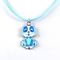 Cheap Cartoon Blue Dog Charm Necklaces Jewelry Gift For Children Wholesale Free Shopping Kid's Necklace0062