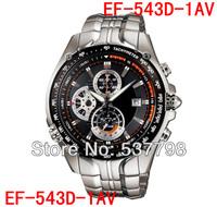 Original New EF-543D-1AV EF-543D-1A EF-543D 543D Men's Sport Chronograph Watch 1/20 Second Stopwatch Pendulum Swing Function