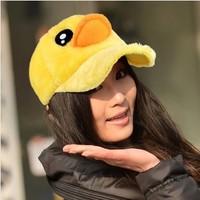 HOT Style Autumn Winter  Big Yellow Duck Hat For Women Cute Baseball Cap