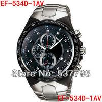 Original Brand New EF-534D-1AV EF-534D 534D Mens Sport Chronograph Stainless Steel Case Watch EF-534D-1A Mechanical Men Watches
