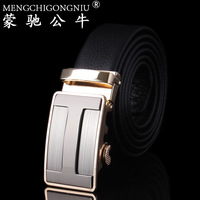 Fashion genuine leather strap male genuine leather automatic buckle belt pants