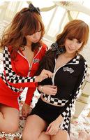Cars clothes uniform sexy set automobile race lady costume ds