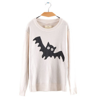 Free shipping Wholesale 2013 autumn&winter Women's o-neck long sleeve knitted sweaters The bat Casual pullovers Due157