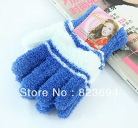 Winter gloves more warm towel sweet candy color towel gloves (large)