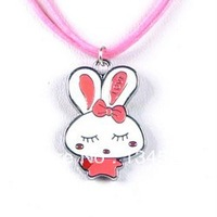 Cheap Cartoon Rabbit Charm Necklaces Jewelry Gift For Children Wholesale Free Shopping Kid's Necklace0054