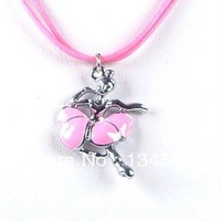 Cheap Cartoon Dancer Girl Charm Necklaces Jewelry Gift For Children Wholesale Free Shopping Kid's Necklace0057